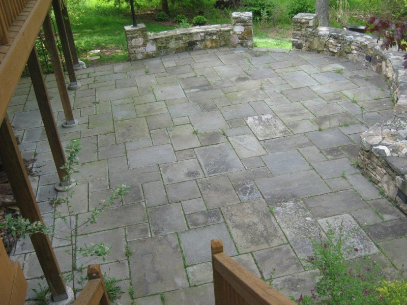 ... Bluestone Patio Before Roof Cleaning ...