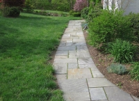 bluestone walkway before