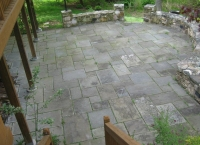 bluestone patio before