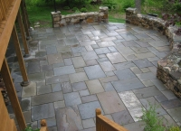 bluestone patio after