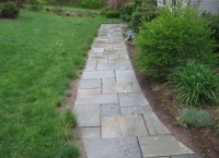 bluestone walkway after