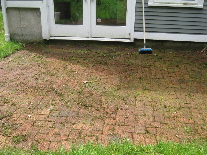 Cleaning Brick Patio Vinegar Clean Without Pressure