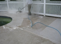 hot water wash pool deck